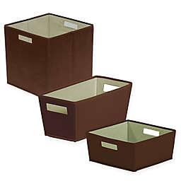 b+in Carafe Fabric Storage Bin in Brown