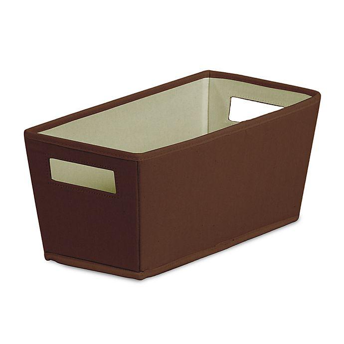 Alternate image 1 for b+in Carafe Fabric Quarter Storage Bin in Brown