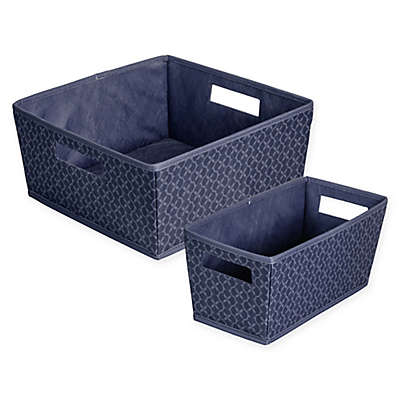 b+in® Blossom Fabric Storage Bin in Blue