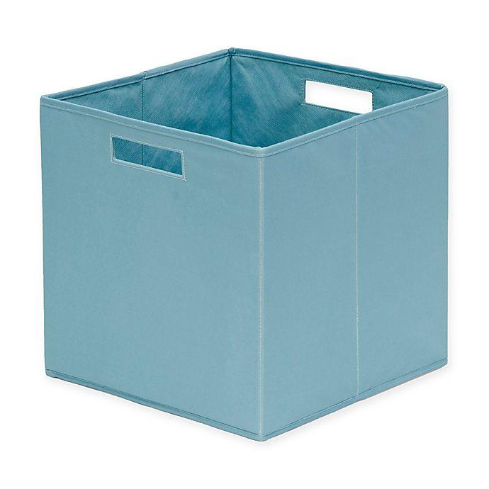 Alternate image 1 for b+in® Nile Blue Fabric Full Storage Bin in Nile Blue
