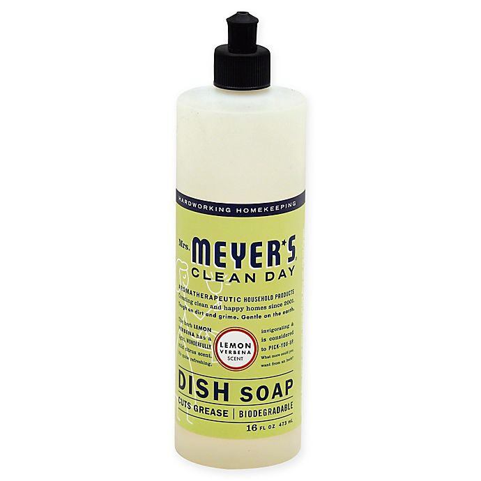 Alternate image 1 for Mrs. Meyer's® Clean Day Therapeutic Lemon Verbena 16-Ounce Liquid Dish Soap