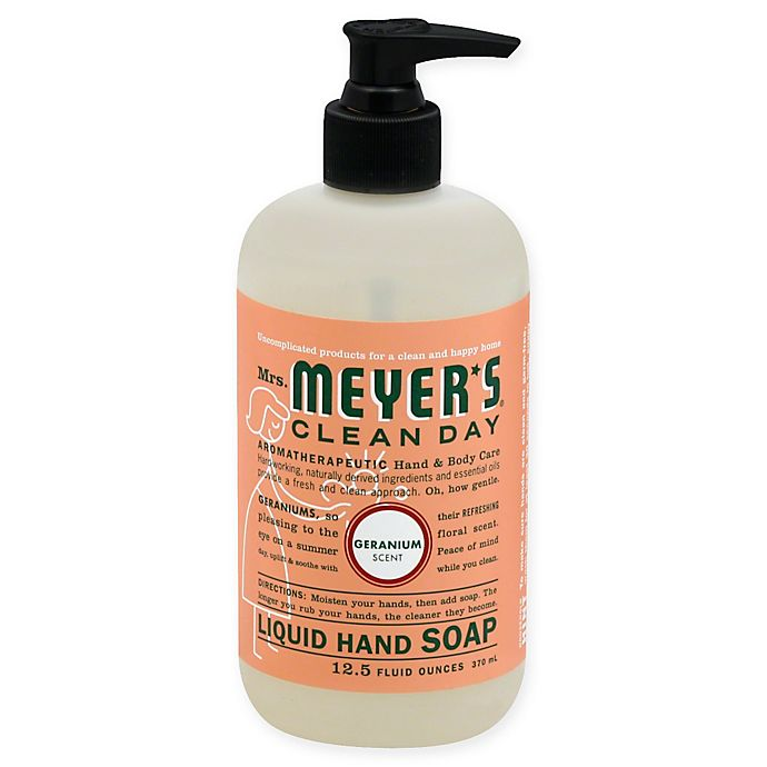 Alternate image 1 for Mrs. Meyer's® Clean Day Aromatherapeutic Geranium 12.5-Ounce Liquid Hand Soap