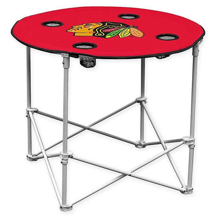 Alternate image 1 for NHL Chicago Blackhawks Round Collapsible Table