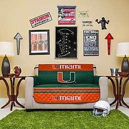 University of Miami Loveseat Cover