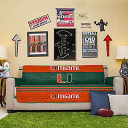 University of Miami Sofa Cover