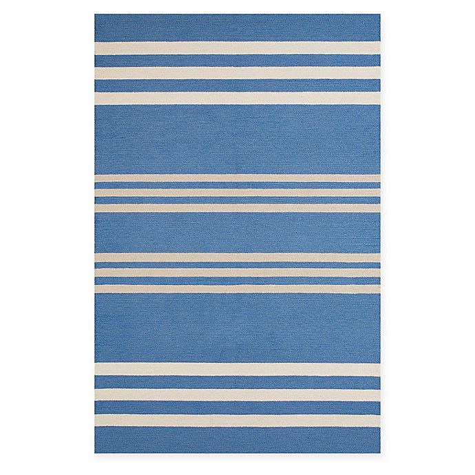 Alternate image 1 for Panama Jack Parallel 5-Foot x 7-Foot 6-Inch Indoor/Outdoor Area Rug in Blue
