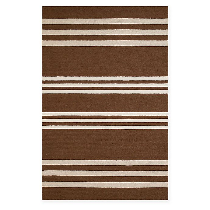 Alternate image 1 for Panama Jack Parallel 5-Foot x 7-Foot 6-Inch Indoor/Outdoor Area Rug in Chocolate