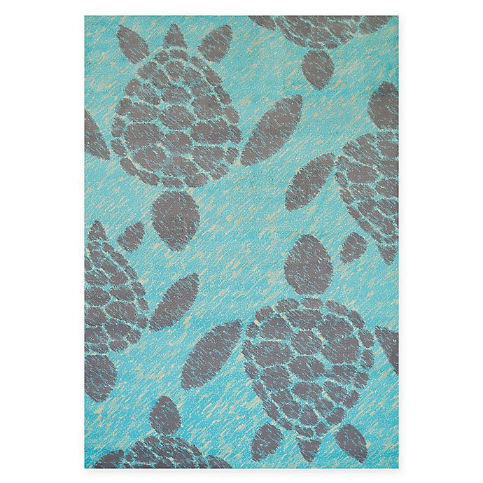 Alternate image 1 for Panama Jack Sea Turtles 5-Foot 3-Inch x 7-Foot 2-Inch Area Rug in Blue