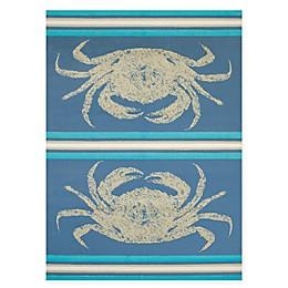 Panama Jack Stone Crab Rug in Blue
