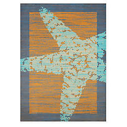 Panama Jack Starfish Rug in Peach