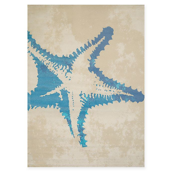 Alternate image 1 for Panama Jack Sea Life 1-Foot 10-Inch x 3-Foot Accent Rug in Natural
