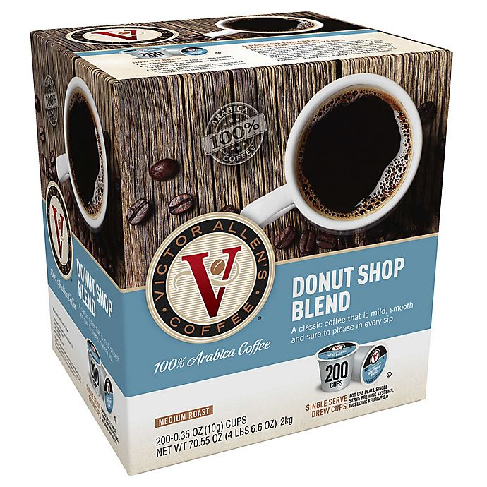 Alternate image 1 for 200-Count Victor Allen® Donut Shop Blend Coffee Pods for Single Serve Coffee Makers