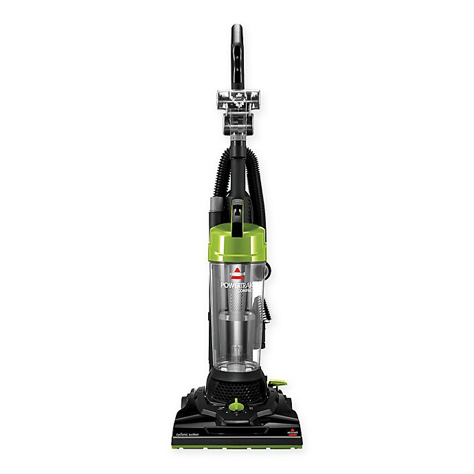Alternate image 1 for BISSELL® PowerTrak Compact Upright Vacuum Cleaner in Black/Lime
