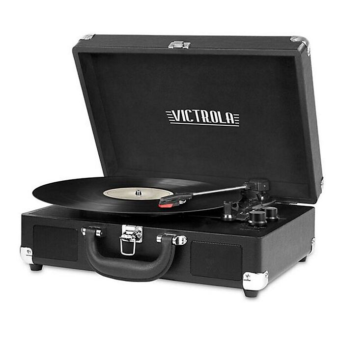 Alternate image 1 for Victrola™ 3-Speed Bluetooth® Portable Suitcase Turntable