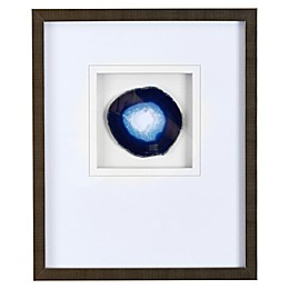 Madison Park Agate Stone Framed Wall Art with Blue Agate