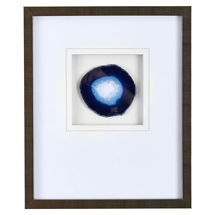 Alternate image 1 for Madison Park Agate Stone Framed Wall Art with Blue Agate