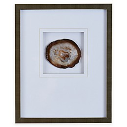 Madison Park Agate Stone Framed Wall Art with Natural Agate