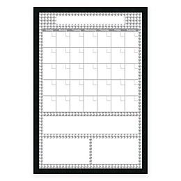 Mezzanotte Dry-Erase Big Calendar in Grey Houndstooth