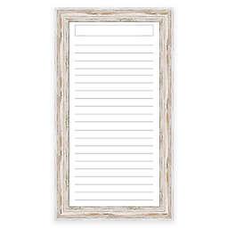Alexandria Dry-Erase List with Whitewash Frame