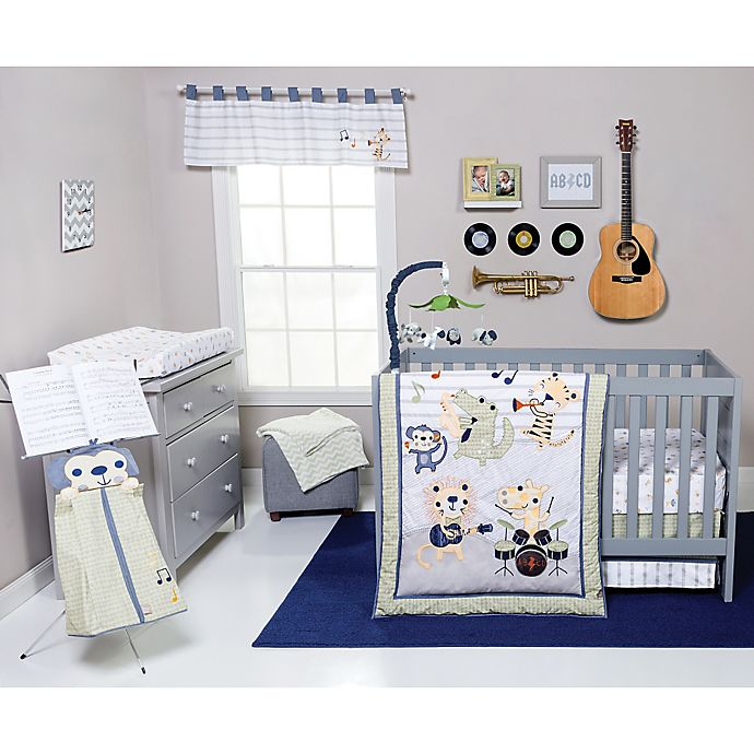 Alternate image 1 for Trend Lab® Safari Rock Band 6-Piece Crib Bedding Set