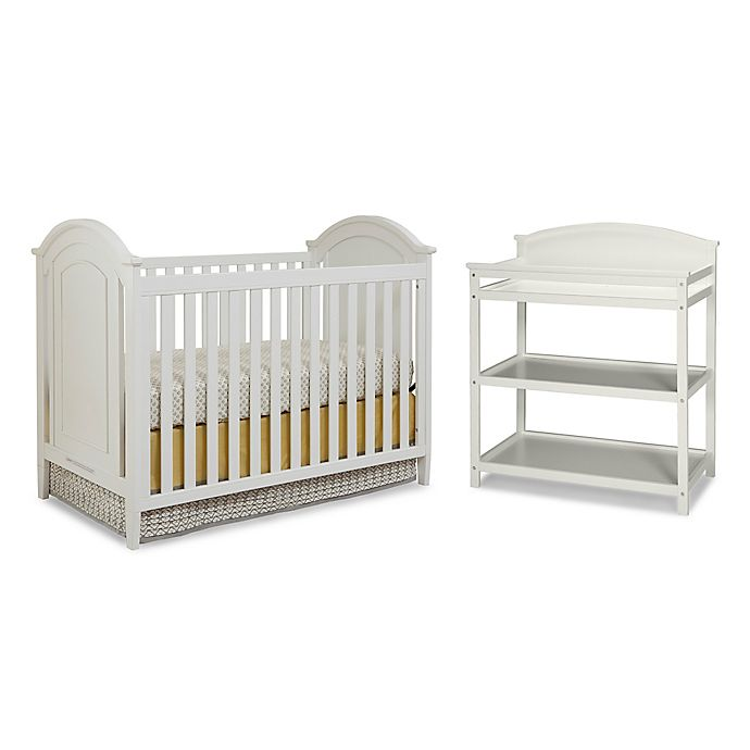 Alternate image 1 for Imagio Baby by Westwood Designs Chatham 3-In-1 Crib and Changer Set in White