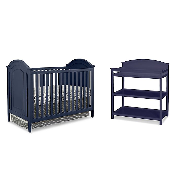 Alternate image 1 for Imagio Baby by Westwood Designs Chatham 3-in-1 Crib and Changer Set in Navy
