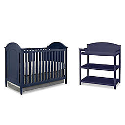 Imagio Baby by Westwood Designs Chatham 3-in-1 Crib and Changer Set in Navy