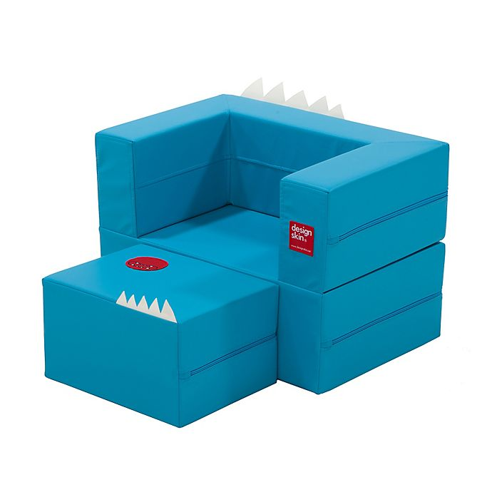 Alternate image 1 for Design Skins Transformable Play Furniture Cake Sofa in Blue