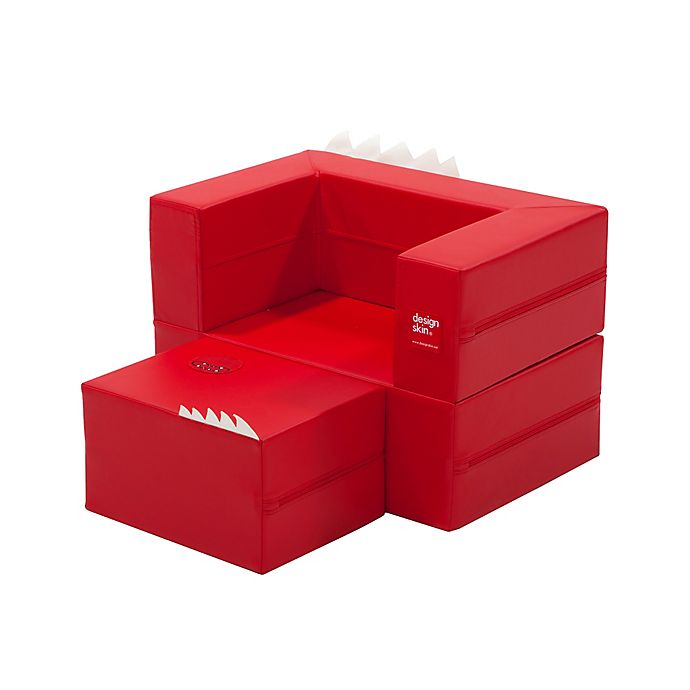Alternate image 1 for Design Skins Transformable Play Furniture Cake Sofa in Red
