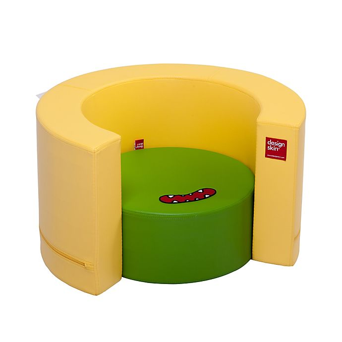 Alternate image 1 for Design Skins Transformable Play Furniture Tunnel Sofa in Yellow