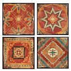 Madison Park Moroccan Tile Deco Box 4-Piece Wall Art
