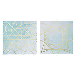 Madison Park Arctic Geometric 2-Piece Canvas Wall Art