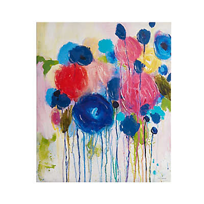 Intelligent Design Hearts and Flowers Canvas Wall Art