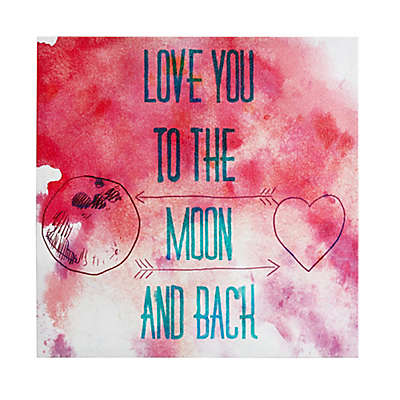 Intelligent Design To The Moon And Back Canvas Wall Art