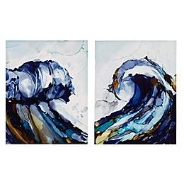 Madison Park Liquid Waves Canvas 2-Piece Wall Art