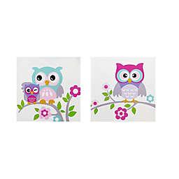 Mi Zone Wise Wendy 12-Inch x 12-Inch Owl Wall Art (Set of 2)