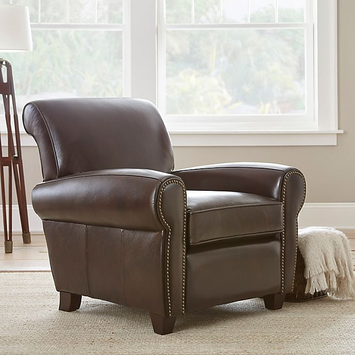 Putting Together A Steve Silver Accent Chair: Steve Silver Co. Clinton Leather Accent Chair In Brown