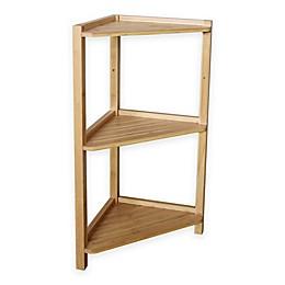 Bamboo 3-Tier Corner Shelf