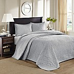 Madison Park Quebec Reversible Queen Bedspread Set in Grey