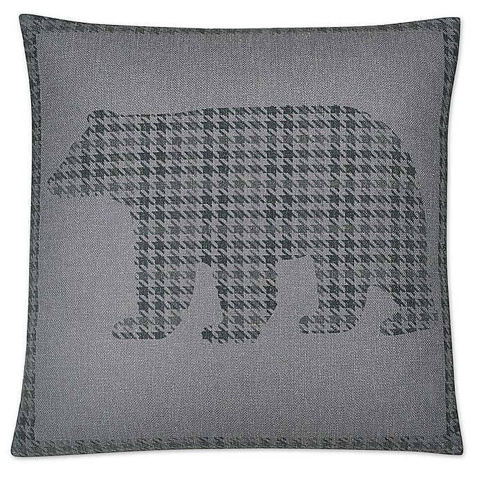 Alternate image 1 for Jack Bear Square Throw Pillow in Grey