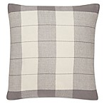 Jack Plaid Square Throw Pillow in Grey