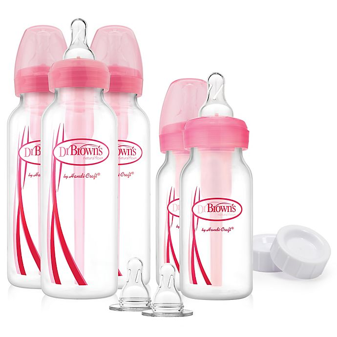 Alternate image 1 for Dr. Brown's® Options Feeding Bottles Gift Set in Pink