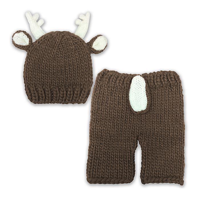 So \'dorable 2-Piece Reindeer Crochet Set in Brown   buybuy BABY