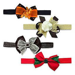 Elly & Emmy 4-Pack Fall Holiday Headwraps