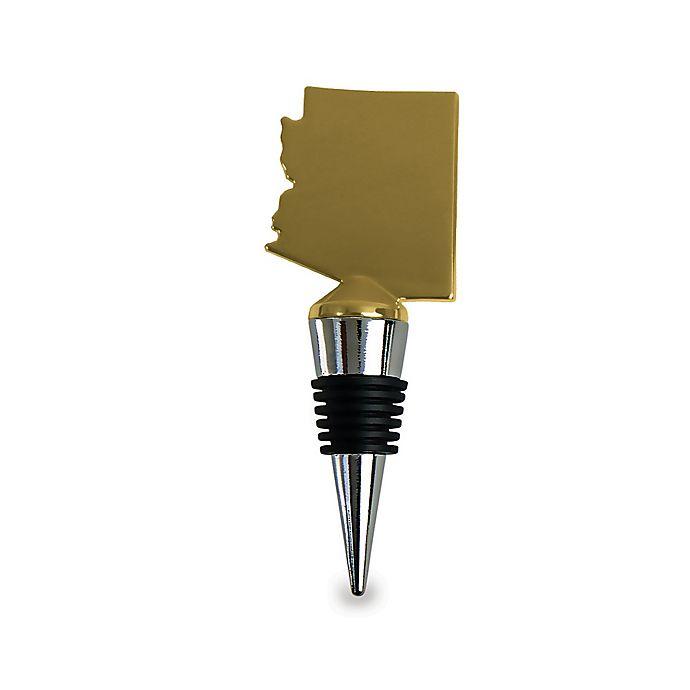 Alternate image 1 for Wild Eye Designs Arizona State Wine Stopper in Gold