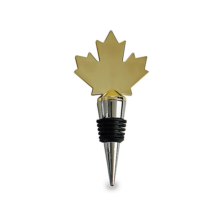 Alternate image 1 for Wild Eye Designs Canada Map Wine Stopper in Gold