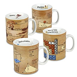 Konitz Science and History Knowledge Mugs (Set of 4)
