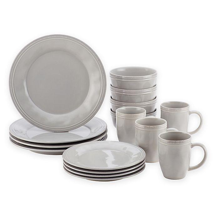 Alternate image 1 for Rachael Ray™ Cucina 16-Piece Dinnerware Set Grey