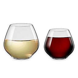 Red Vanilla Amoroso Stemless Wine Glasses