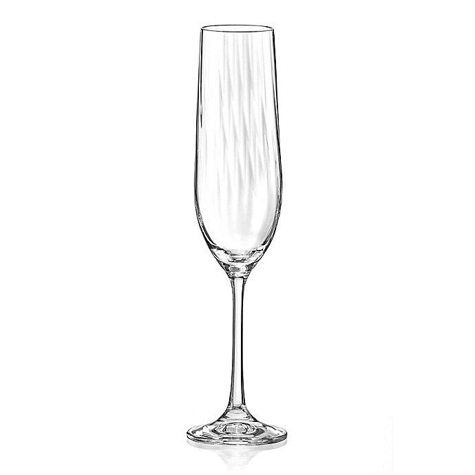 Alternate image 1 for Red Vanilla Viola Optic Fluted Champagne Glasses (Set of 4)